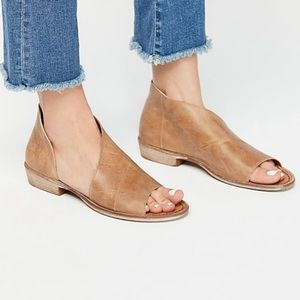 Free People Mont Blanc Leather Flat Sandals size10